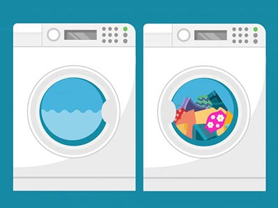 Graphic washing machine and dryer