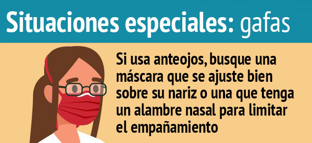 Graphica situaciones especiales: gafas
